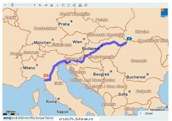 Harta Europei Rutiera Online